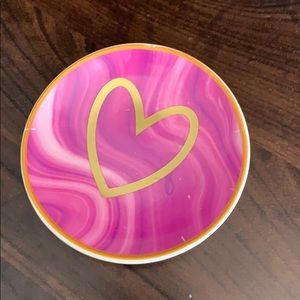 Small Pink Agate ring dish